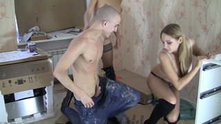 Image: Henessy & Grace in a lucky dude fucks a pair of hot pick up girls