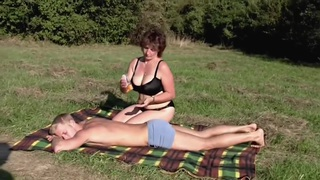 Brunette_BBW-Milf_Outdoors_by_Young_Guy image
