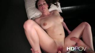 Image: HD POV Pink bra and panties strips and sucks and fucks