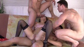 Dominica in gang banging porn featuring dominika and horny dudes image