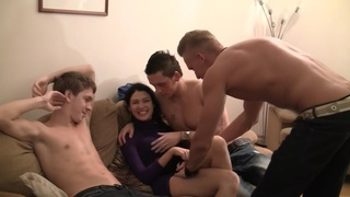 Elizabeth & Kamila & Marya & Sabina Gruda & Tanata in sexy chick gets fucked in a real college_sex video image