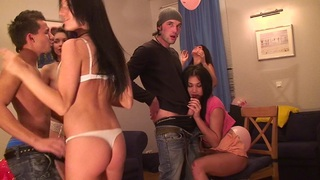 Jocelyn & Key & Margo & Black Panther & Nicole B & Twiggy in hot student girls getting fucked by aroused dudes image