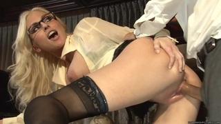 Image: Horny Christie Stevens enjoys a rough anal pounding