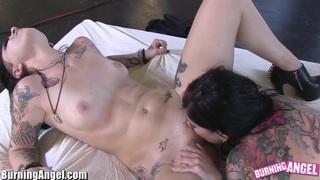 Image: BurningAngel Joanna Angel and Emo Slut make guy Watch