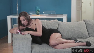 She spread her legs to take his cock deep in her juicy butt image
