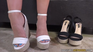 Image: Cassidy Klein Pleases A Big Black Cock With Her Feet