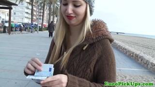 Eurosex amateur facialized outdoor for cash image