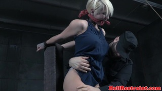 Shorthaired submissive emo slave tickled by dom image