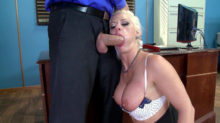 Ramon face fucking her co-worker Holly Heart in the office image