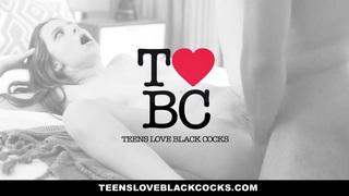 TeensLoveBlackCocks - Brunette Babe Fucks Big Black Cock For Cash image