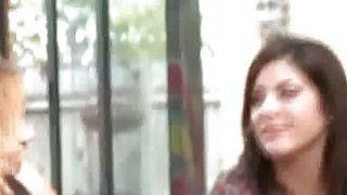 Clothed women watch blowjob happen image