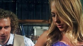 Pretty blonde teen girl Carter Cruise banged and facialed image