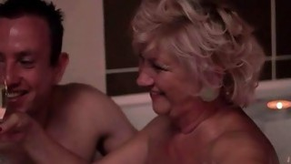 Fat granny and young_man making hot romantic love image