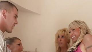 3 Frisky Blonde MILFs Suck Fuck And Swap Cum! image