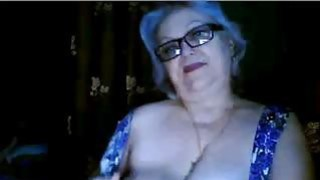 Image: Punky Granny playing with my big boobs
