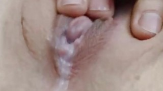 Hot creampie and fingering in front of cam image