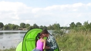 Image: Eveline getting ravaged on camping site