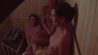 Hidden Cam Catches three Girls in Sauna image
