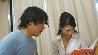 Japanese tutor Ryo rewards her pupil image