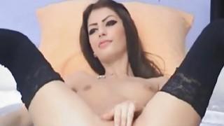 Image: Hot Russian Teen Dildo Masturbation