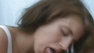 Drunk brunette fucked in a tent image