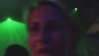 Blonde babe gets fucked in the disco image