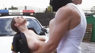 Officer Molly Jane and a hooded man bangs image