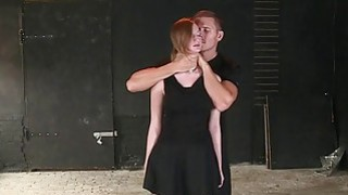 Busty tied up redhead sub banged by her master image