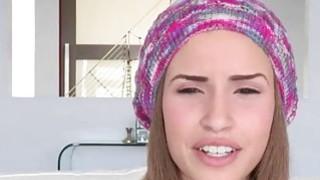 Cute teen_girl Natasha White facialized by monstercock image
