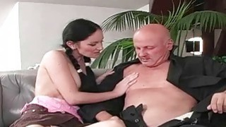 Hot Young Girls and Lucky Grandpas image