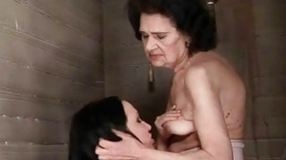 Image: Young hooker loves granny in public toilet