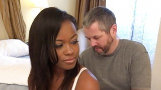 Image: Ebony Wife Has Cuckold Lick Another Mans Cum
