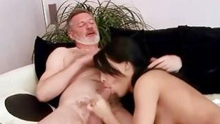 Amabella enjoys hot sex with older man image