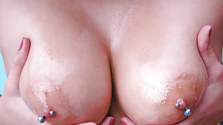 Latina with piercings_getting her_pussy slapped image