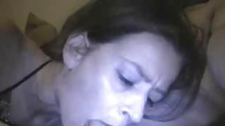 Image: My mature Mariah eats my cum from a glass