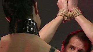 Bdsm dude gets anal fingered bondage busty image