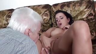 MAGMA FILM Busty Hot Teens teasing Grandpa image
