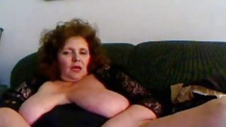 Amateur mature masturbation with sex toy on webcam image