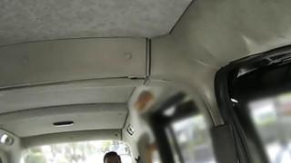 Image: Ebony interracial banged in British fake taxi