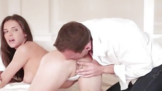 She took his shaft deep in her tight ass image