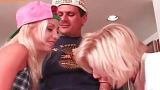 Ffm threesome with two blondes image