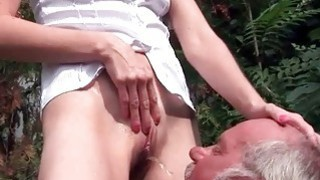Image: Grandpa and mature beauty pissing and fucking