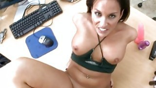 Babe is being fucked hard by a tough dude image