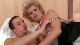 Image: Old maid enjoys sex with young man