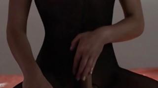 Image: sleek princess in pantyhose masturbating