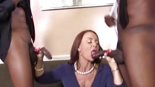 Janet Mason Gets Fucked By Two Horny Black Guys image