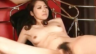 Maki Hojo strong hardcore session with toy cocks image