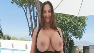 Image: Huge boobs babe Ava Addams strips down