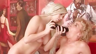 Oldies and Young Girls Lesbian Fuck Compilation image