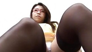 Mizuki Ogawa girl with glasses gets threesome sex image